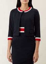 Annabel Jacket, Navy Red, hi-res