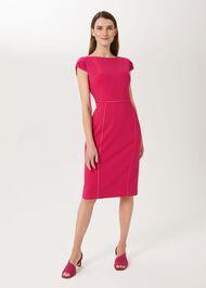 Rita Shift Dress, Fuchsia, hi-res