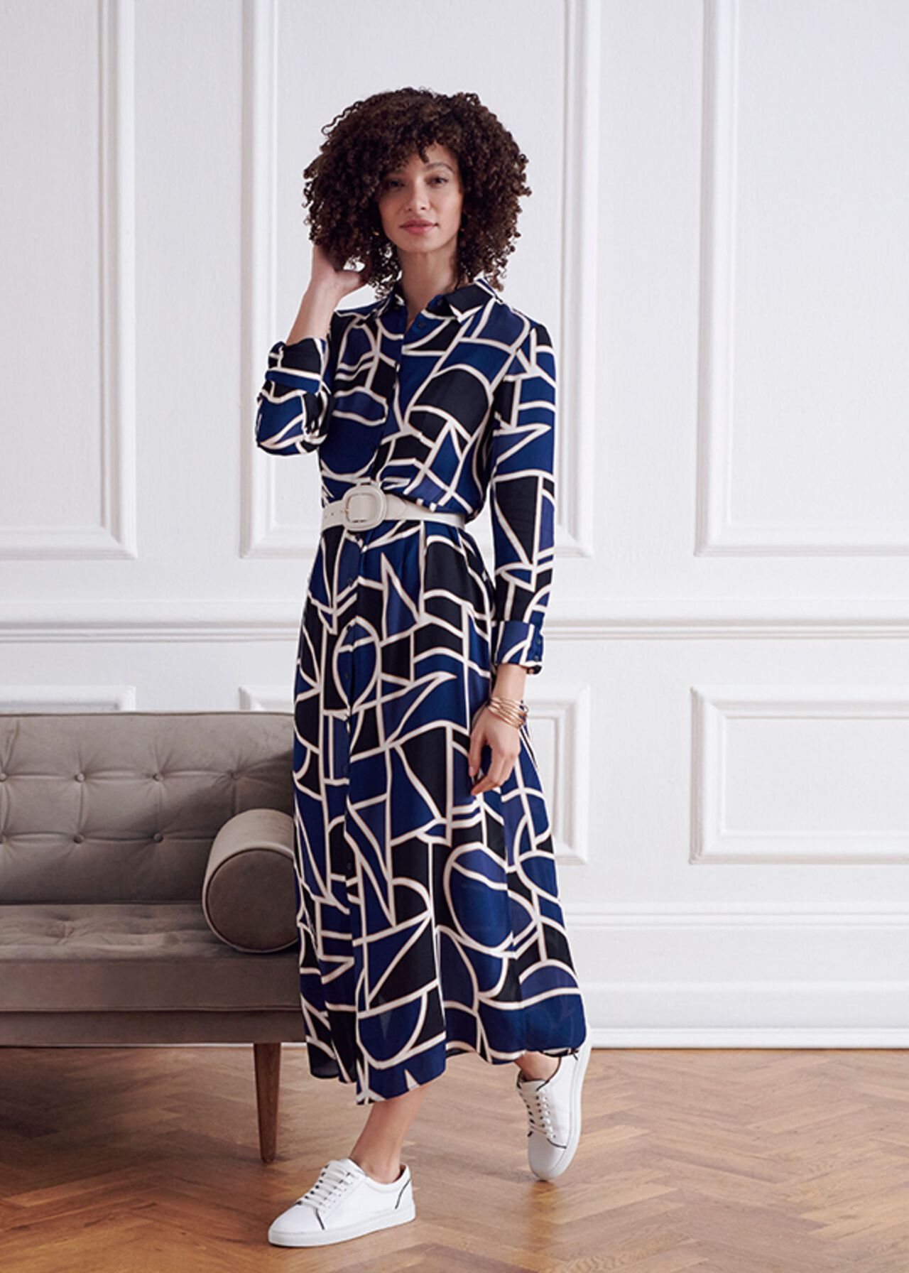 The Nadine Dress With Trainers Outfit, , hi-res