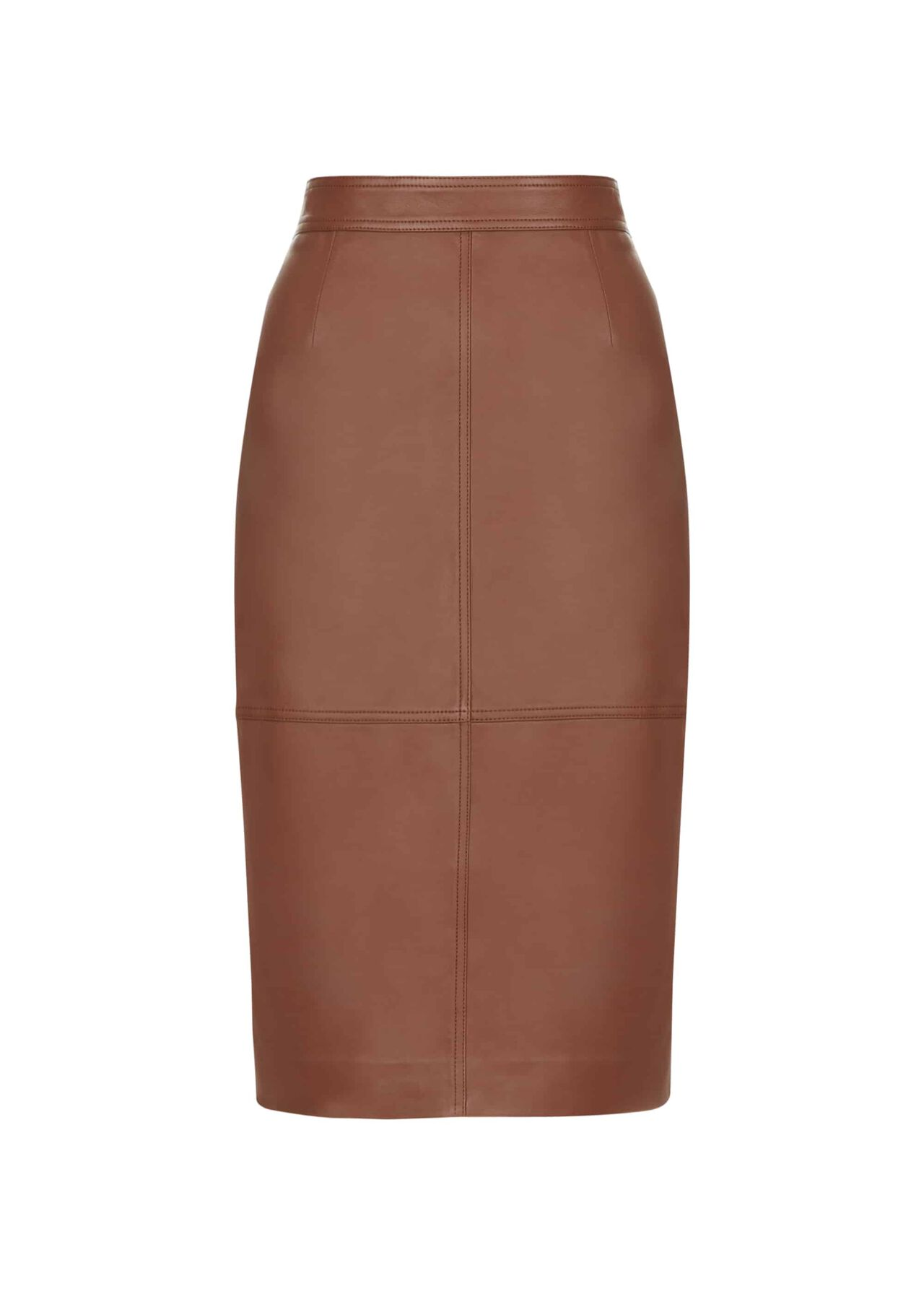 Thea Leather Skirt Tan