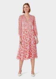 Rosie Dress, Rasp Red Ivory, hi-res