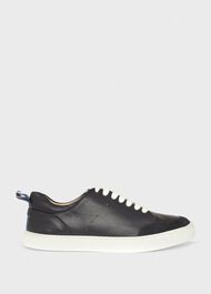 Liberty Leather Trainer, Navy, hi-res