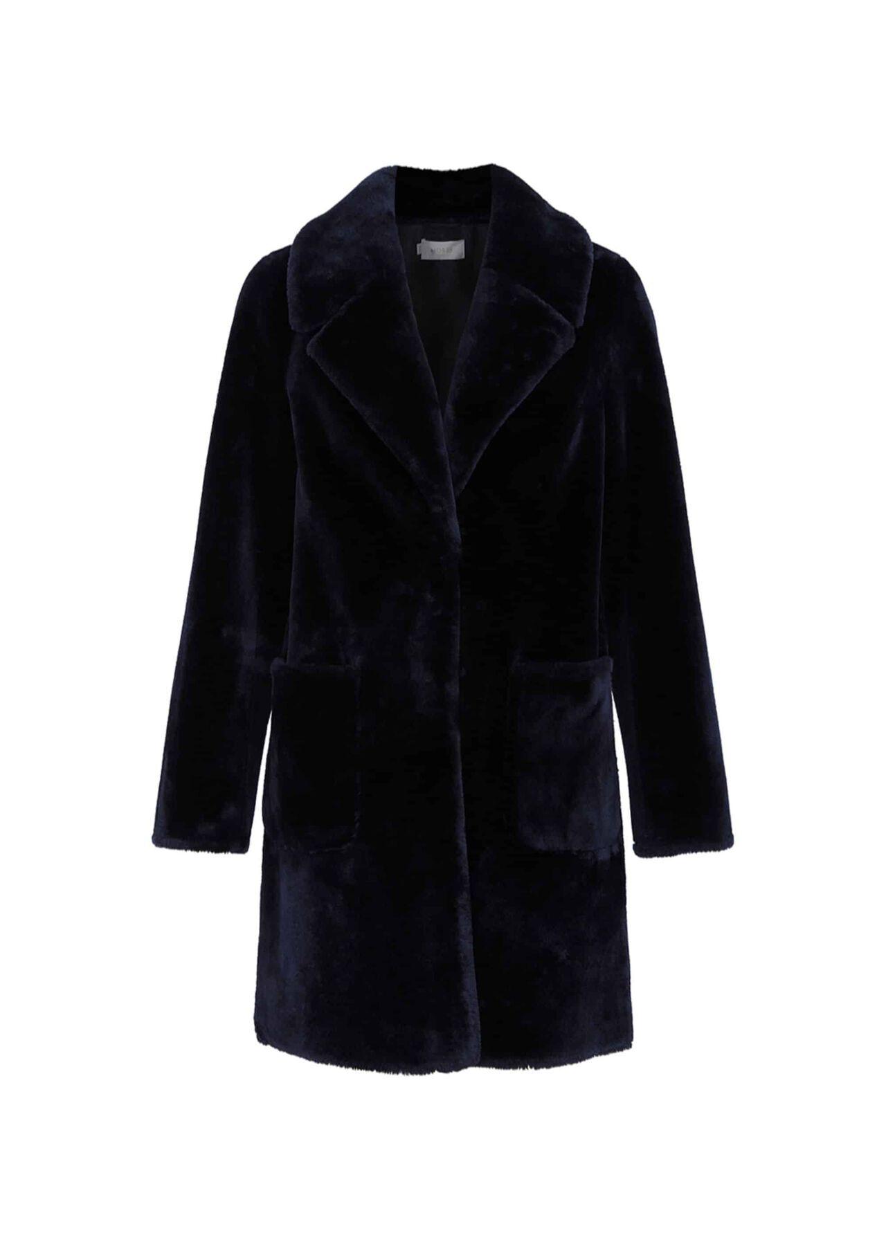 Ioanna Fur Coat Navy