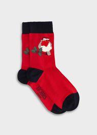 Robin Single Sock, Red Multi, hi-res