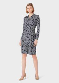 Sandrine Dress, Navy Ivory, hi-res