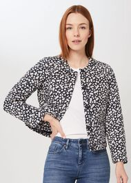 Adina Floral Quilted Jacket, Navy Multi, hi-res