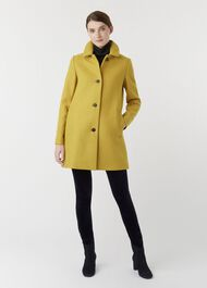 Fia Wool Blend Coat, Honey Yellow, hi-res