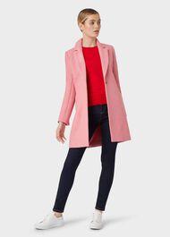Petite Camellia Coat, Bubblegum Pink, hi-res