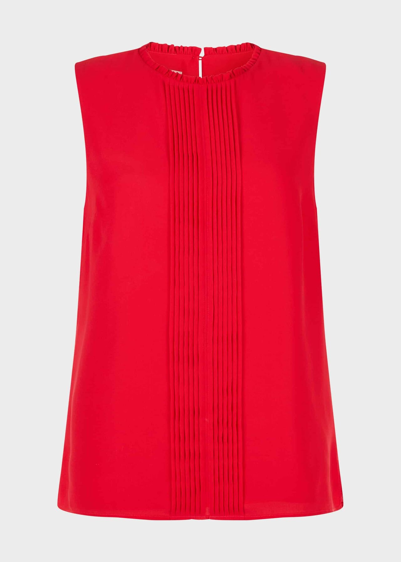 Flora Pleated Top Red