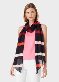 Lainey Scarf, Navy, hi-res