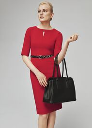 Maura Dress, Red, hi-res