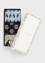 Penguin Sock Set, Blue Multi, hi-res