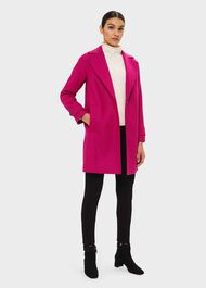 Cynthia Wool Coat, Pink, hi-res