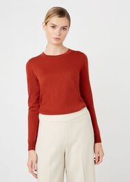 Penny Merino Wool Sweater, Rust, hi-res