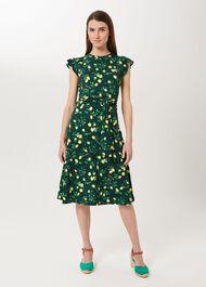 Cici Jersey Printed Dress, Green Multi, hi-res