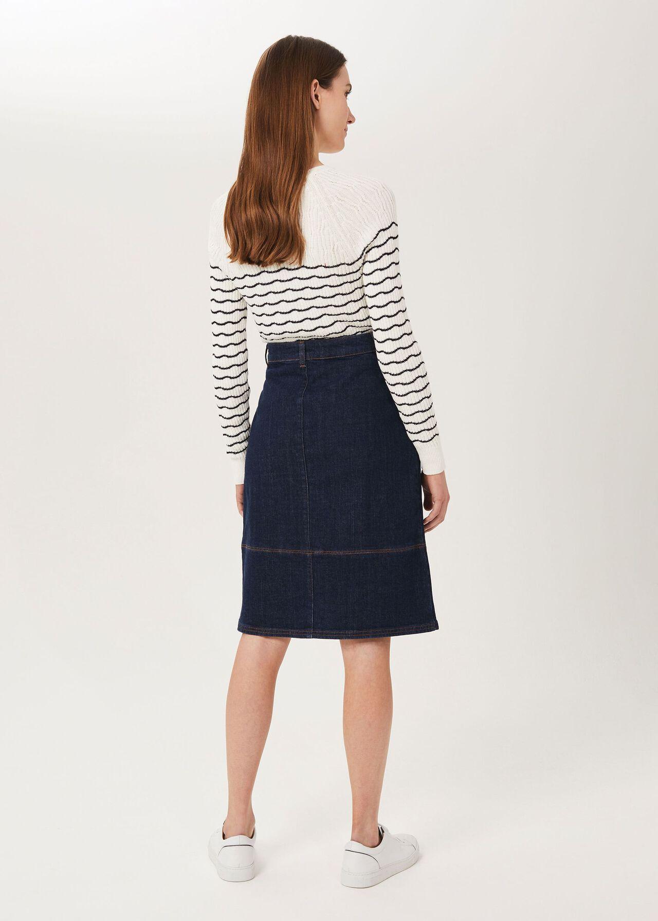 Macey Denim Skirt, Indigo, hi-res