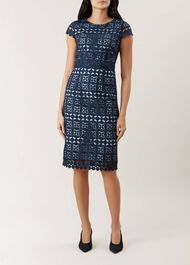 Mabelle Lace Dress, Midnight, hi-res
