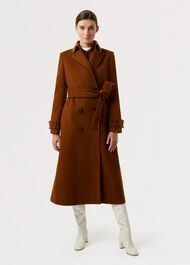 Lori Wool Cashmere Coat, Hazelnut, hi-res