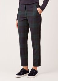 Cassidy Wool Blend Trousers, Navy Multi, hi-res