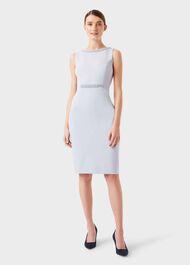Gill Embellished Shift Dress, Pale Blue, hi-res