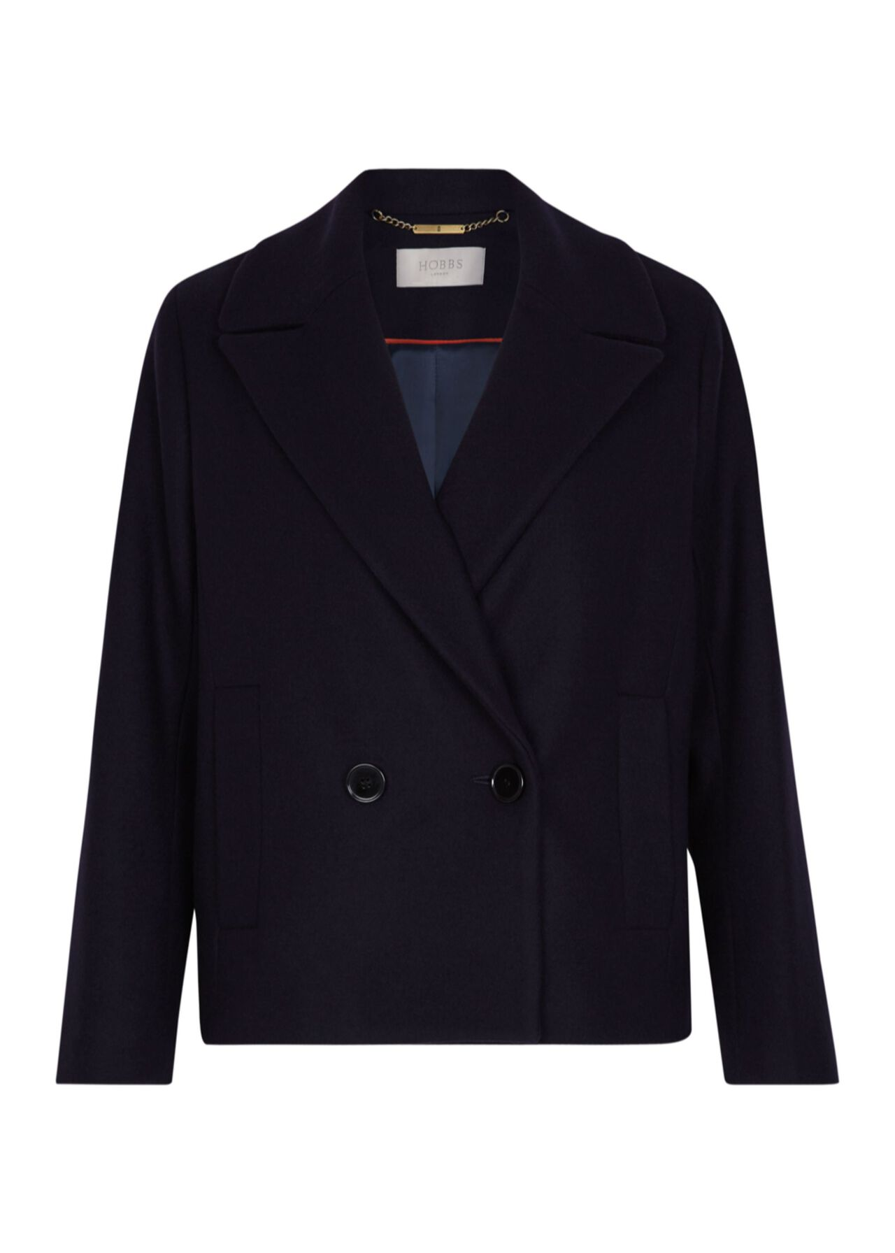 Macey Wool Blend Coat Navy