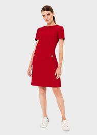 Petra Dress, Red, hi-res