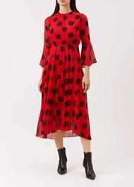 Lilia Dress, Red Multi, hi-res