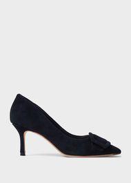 Alison Suede Stiletto Court Shoes, Black, hi-res