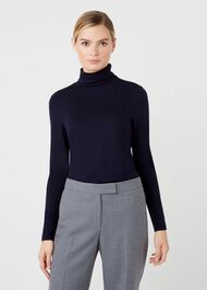 Mischa Roll Neck, Navy, hi-res