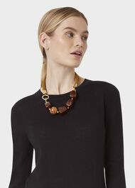 Olive Necklace, Brown, hi-res