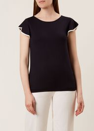 Nessie Top, Navy Ivory, hi-res
