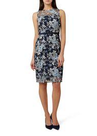 Everly Dress, Navy Multi, hi-res