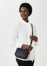 Pelham Cross Body Bag, Black Leather, hi-res