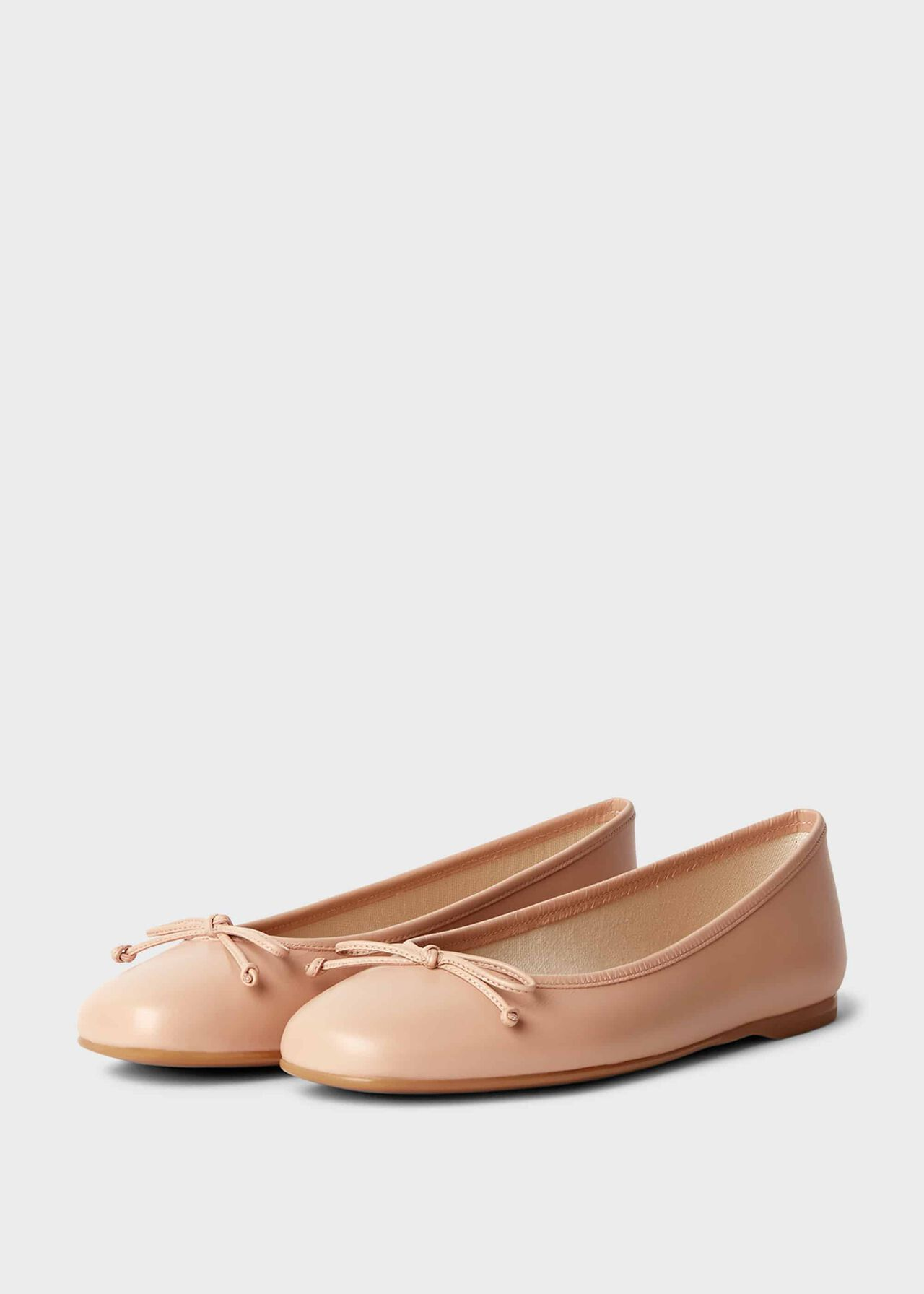Prior Leather Ballerinas Blush
