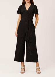 Jemma Jumpsuit, Black White, hi-res