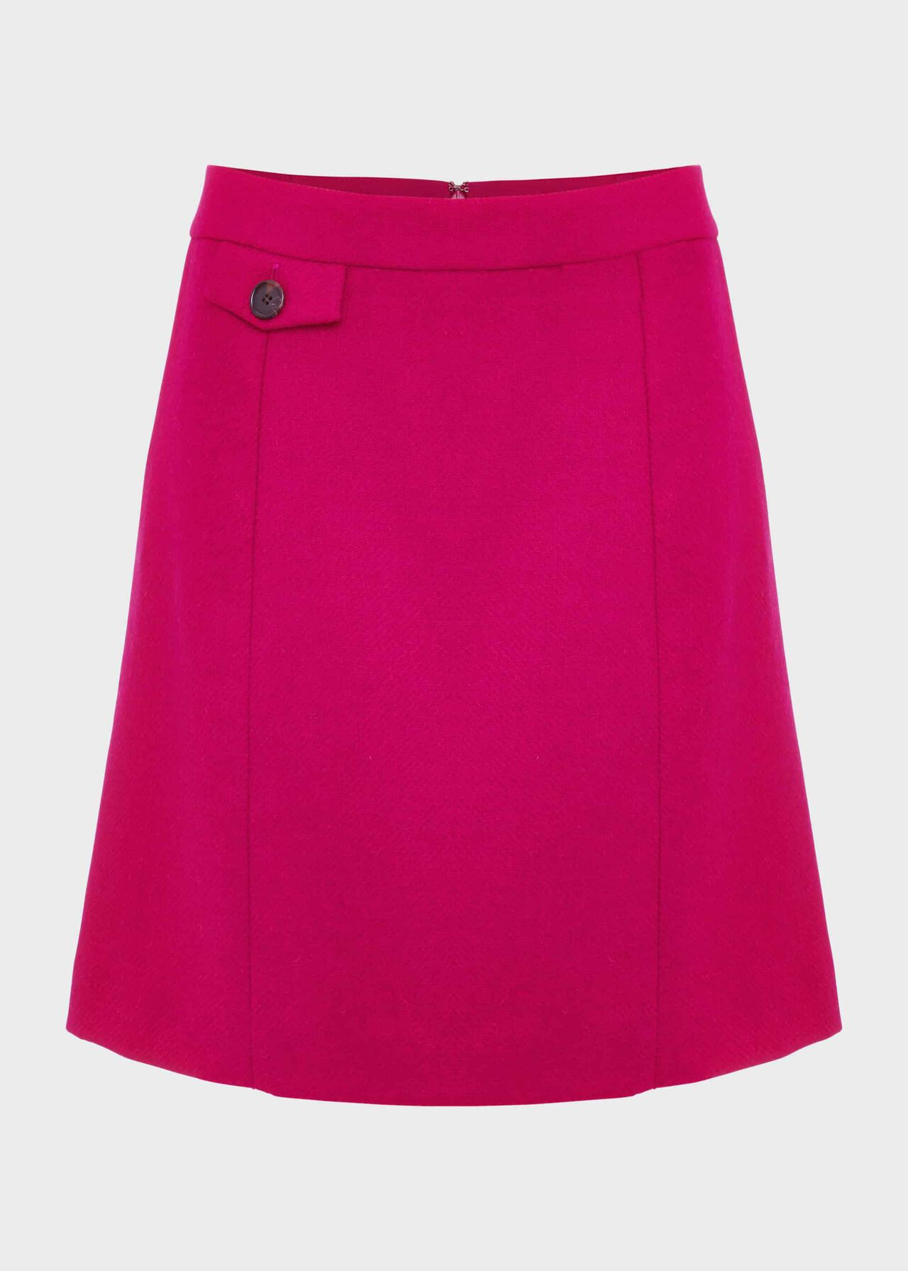 Arianne Wool A-Line Skirt Bright Pink