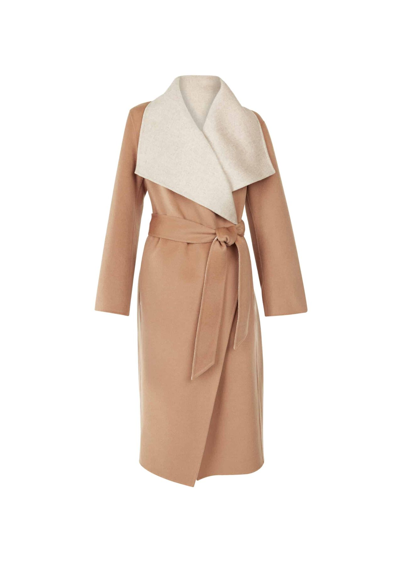 Odelia Double Face Wool Blend Coat Camel
