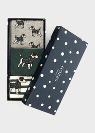 Terrier Dog Sock Set, Green Grey, hi-res