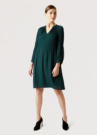 Emilia Dress, Dark Green, hi-res