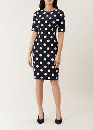 Astraea Spot Dress, Midnight Ivory, hi-res