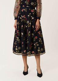 Victoria Posey Skirt, Navy Multi, hi-res