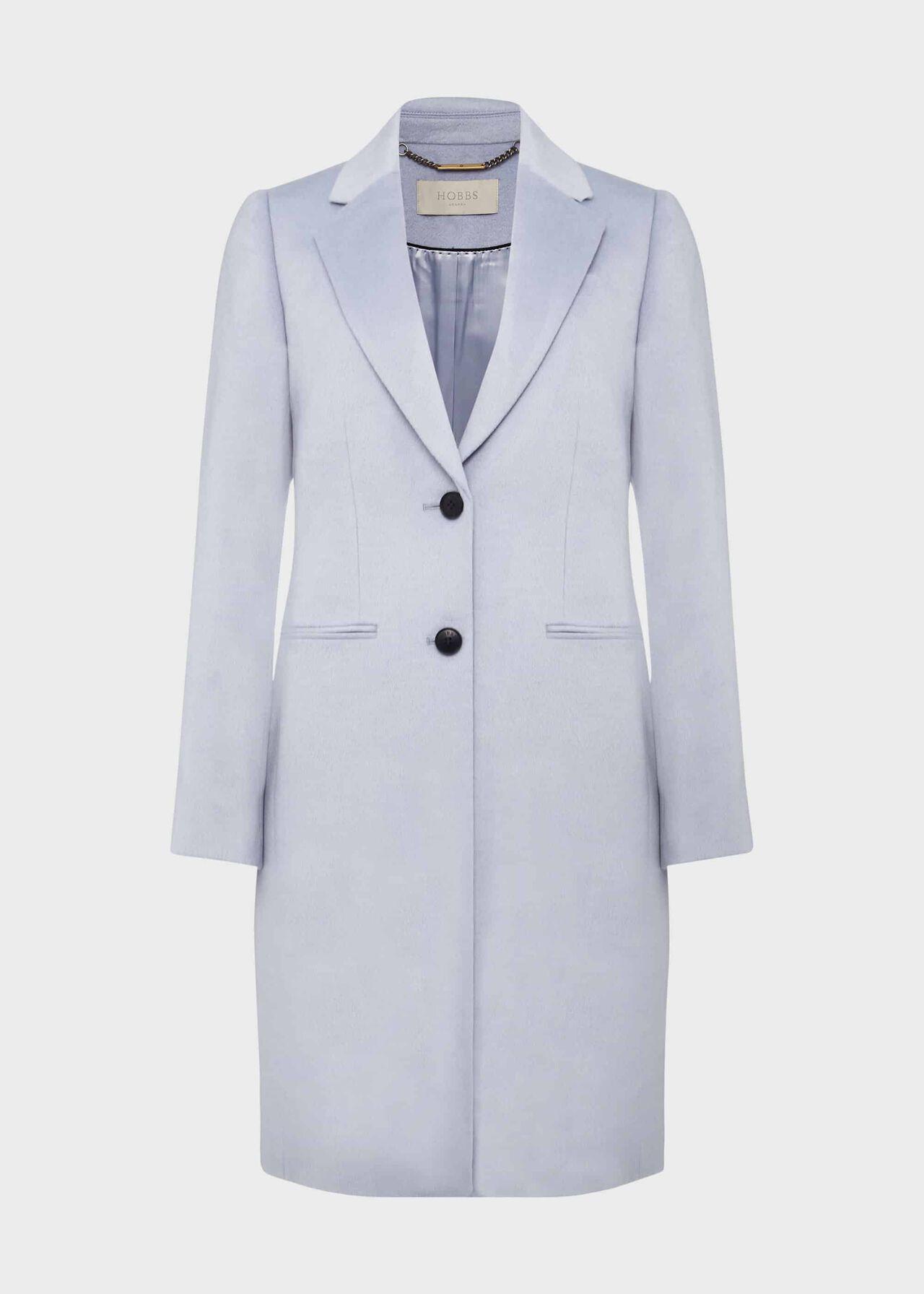 Tilda Wool Coat, Pale Blue, hi-res