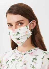 Non-Medical Silk Blend Face Mask, Ivory Multi, hi-res