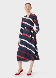 Petite Ginnie Dress, Navy Multi, hi-res