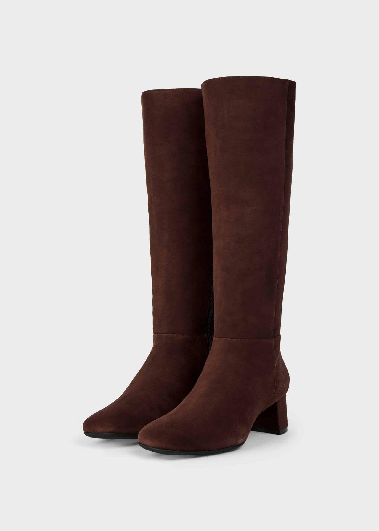 Hailey Flexi Knee Boot Chocolate