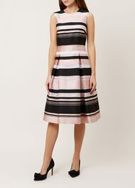 Bridgette Stripe Dress, Pink Multi, hi-res