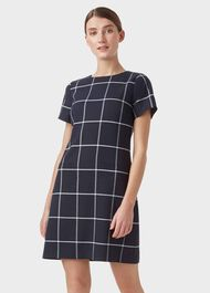Riley Dress, Navy Ivory, hi-res