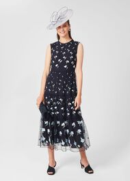 Bethany Embroidered Floral Dress, Navy Multi, hi-res