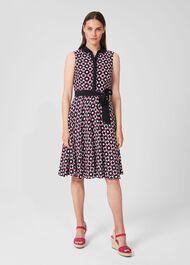 Belinda Dress, Navy Multi, hi-res