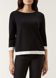Gracie Sweater, Black Ivory, hi-res